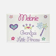 Grandpa's Princess Melanie Rectangle Magnet