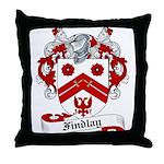 Findlay Family Crest Throw Pillow