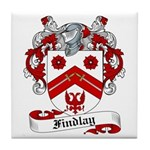 Findlay Family Crest Tile Coaster