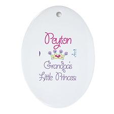 Grandpa's Princess Peyton Oval Ornament