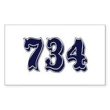 734 Rectangle Sticker 10 pk)