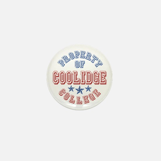 Coolidge College Property Of Mini Button