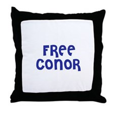 Free Conor Throw Pillow