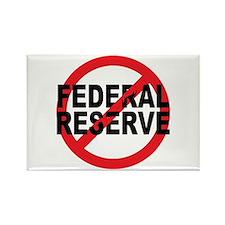 NO Federal Reserve Rectangle Magnet