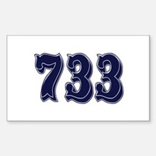 733 Rectangle Decal
