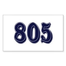 805 Rectangle Decal