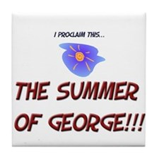 The Summer of George! Tile Coaster