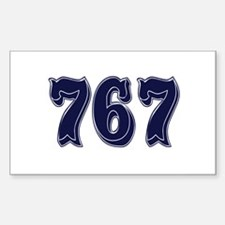 767 Rectangle Decal