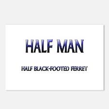 Half Man Half Black-Footed Ferret Postcards (Packa
