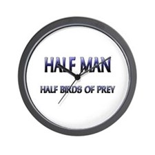 Half Man Half Birds Of Prey Wall Clock