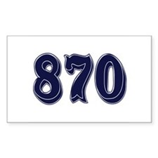 870 Rectangle Decal