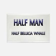 Half Man Half Beluga Whale Rectangle Magnet