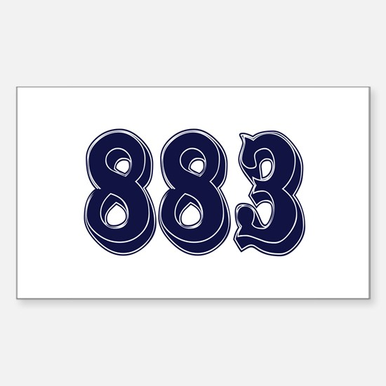 883 Rectangle Decal