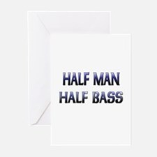 Half Man Half Bass Greeting Cards (Pk of 10)