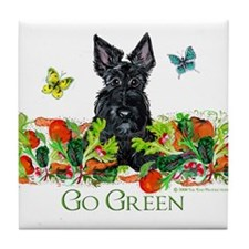 Eco Friendly Scottish Terrier Tile Coaster