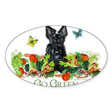 Eco Friendly Scottish Terrier Oval Decal