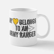 My Heart Belongs to an Army Ranger Mug