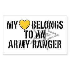 My Heart Belongs to an Army Ranger Decal