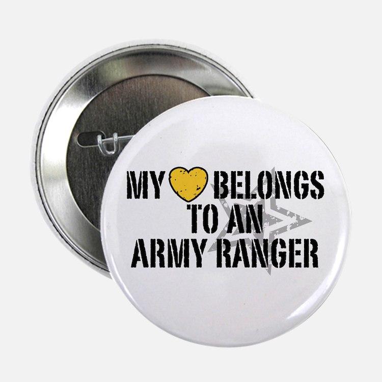 """My Heart Belongs to an Army Ranger 2.25"""" Button"""