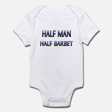 Half Man Half Barbet Infant Bodysuit