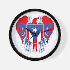 Puerto Rico Winged Wall Clock