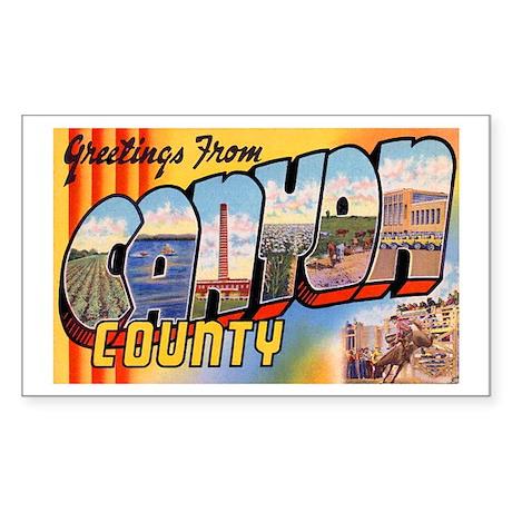 Canyon County Idaho Rectangle Sticker 10 pk)