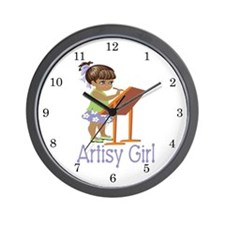 Artisy Girl Wall Clock