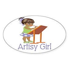 Artisy Girl Oval Decal