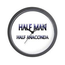 Half Man Half Anaconda Wall Clock