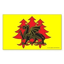 Drachenwald Populace Rectangle Sticker