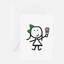 Girl & Coffee Greeting Card