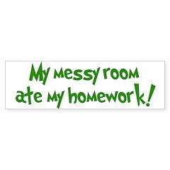 Ate My Homework Bumper Bumper Sticker