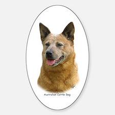 Aust Cattle Dog 9K009D-19 Sticker (Oval)