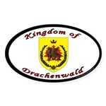 Kingdom of Drachenwald Oval Sticker (50 pk)