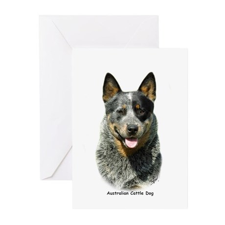 Australian Cattle Dog 9F061D-03 Greeting Cards (Pk