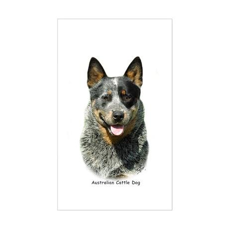Australian Cattle Dog 9F061D-03 Sticker (Rectangle