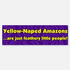 Feathery People Yellow Naped Amazon Bumper Bumper Bumper Sticker