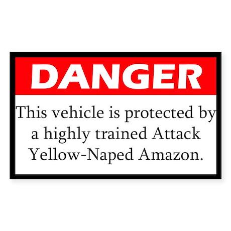 Danger Attack Yellow-Naped Amazon Sticker
