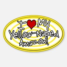 Hypno I Love My Yellow-Naped Amazon Sticker Ylw
