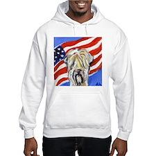 Wheaten Patriotic American Fl Hoodie
