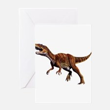 Allosaurus Jurassic Dinosaur Greeting Card