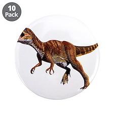 """Allosaurus Jurassic Dinosaur 3.5"""" Button (10 pack)"""