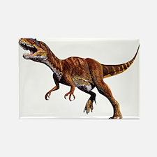Allosaurus Jurassic Dinosaur Rectangle Magnet