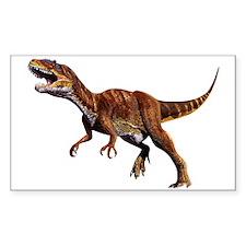 Allosaurus Jurassic Dinosaur Rectangle Decal