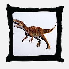 Allosaurus Jurassic Dinosaur Throw Pillow