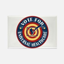 Vote for Universal Healthcare Rectangle Magnet