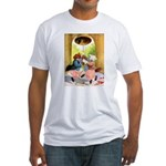 ROOSEVELT BEARS LET FREEDOM RING Fitted T-Shirt