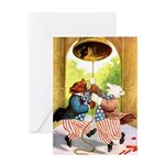 ROOSEVELT BEARS LET FREEDOM RING Greeting Card