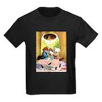 ROOSEVELT BEARS LET FREEDOM RING Kids Dark T-Shirt