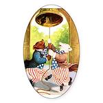 ROOSEVELT BEARS LET FREEDOM RING Sticker (Oval 50